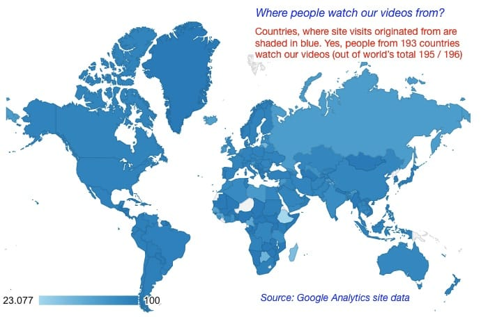 Visitors website by country Diagnostic Detectives Network